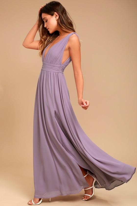 Heavenly Hues Dusty Purple Maxi Dress - Lulus