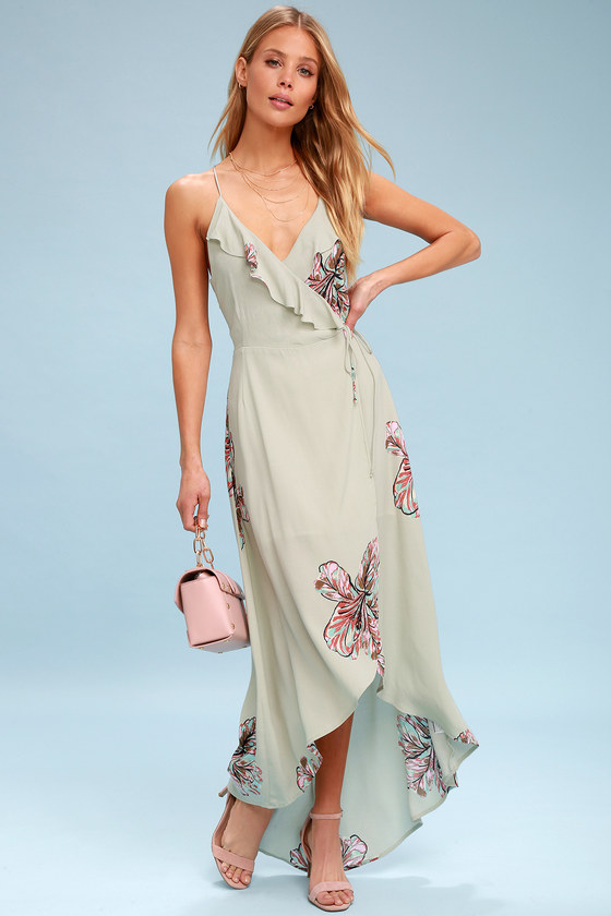 d323db2255 Lucy Love Alter Your Mood - Sage Green Floral Print Dress