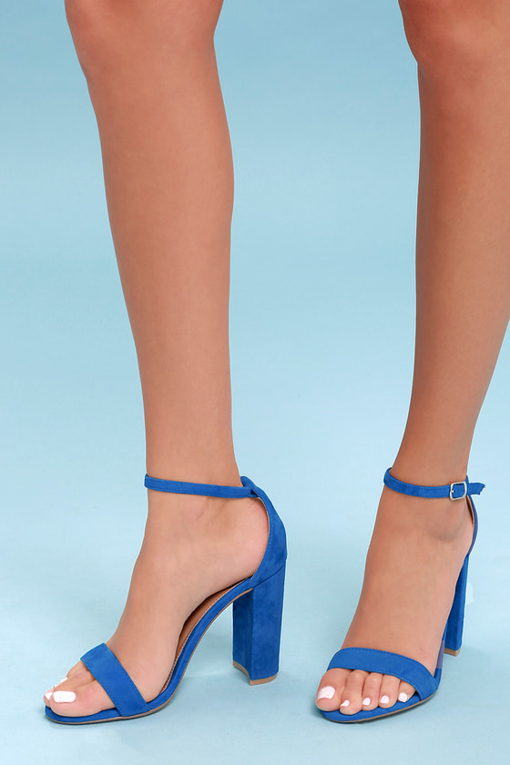 a47c4b0d27c Steve Madden Carrson - Blue Heels - Ankle Strap Heels
