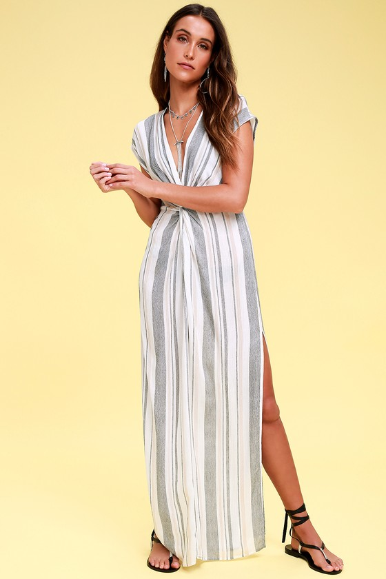 e24133323d Cute Striped Swim Cover-Up - White Cover-Up - Swim Dress