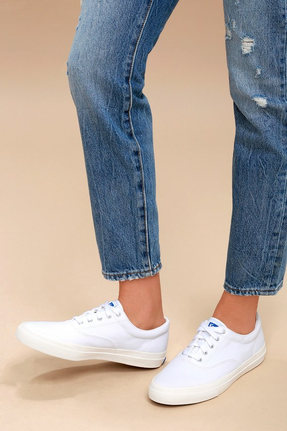 Keds Anchor - White Sneakers - Canvas Sneakers e415a6fa2