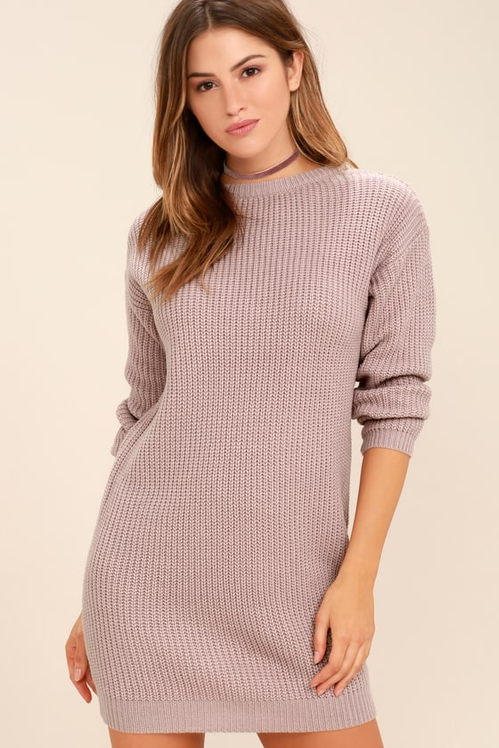 ae79967f5bf Sexy Mauve Dress - Sweater Dress - Backless Dress -  58.00