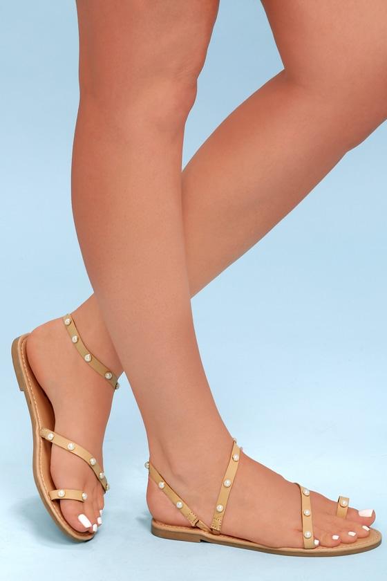 Lulus Alina Snake Flat Sandal Heels - Lulus vHbYCjrv99