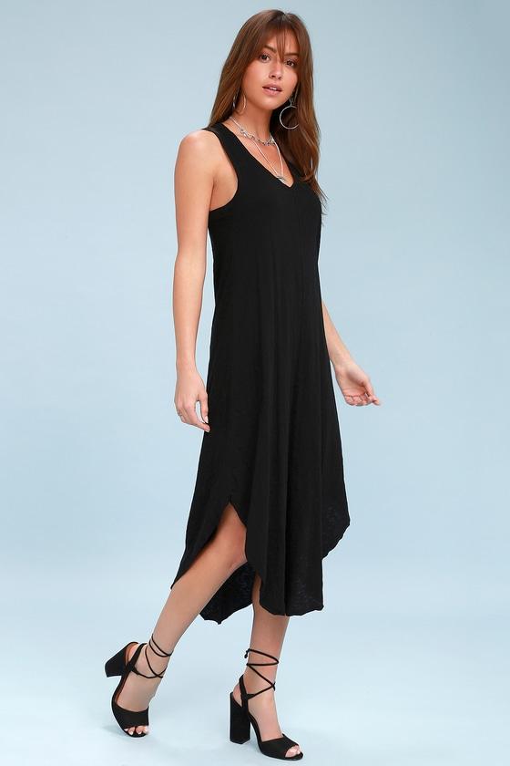0d2522d371eb Z Supply Reverie Dress - Black Shift Dress - T-Shirt Dress