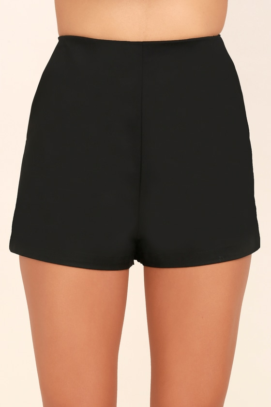 4f6fd16a6d9 Chic Black Shorts - Woven Shorts - High-Waisted Shorts - $38.00