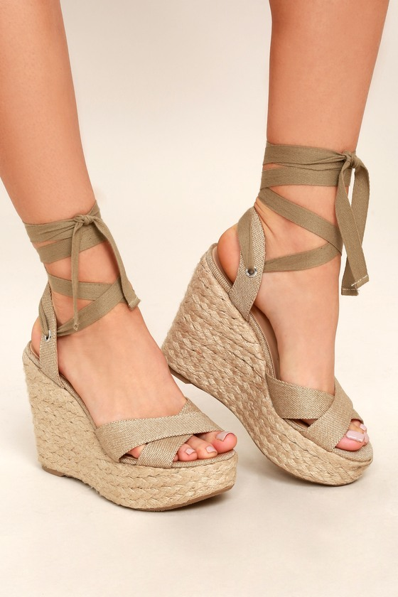 1dd2cbb54ab Esme Natural Lace-Up Espadrille Wedges