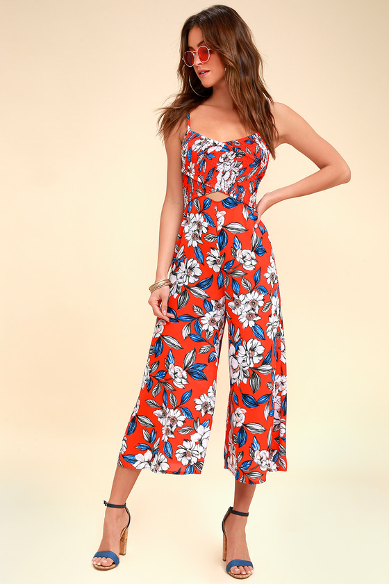 060fa9bd606 Ali   Jay Full Bloom - Red Jumpsuit - Floral Print Jumpsuit