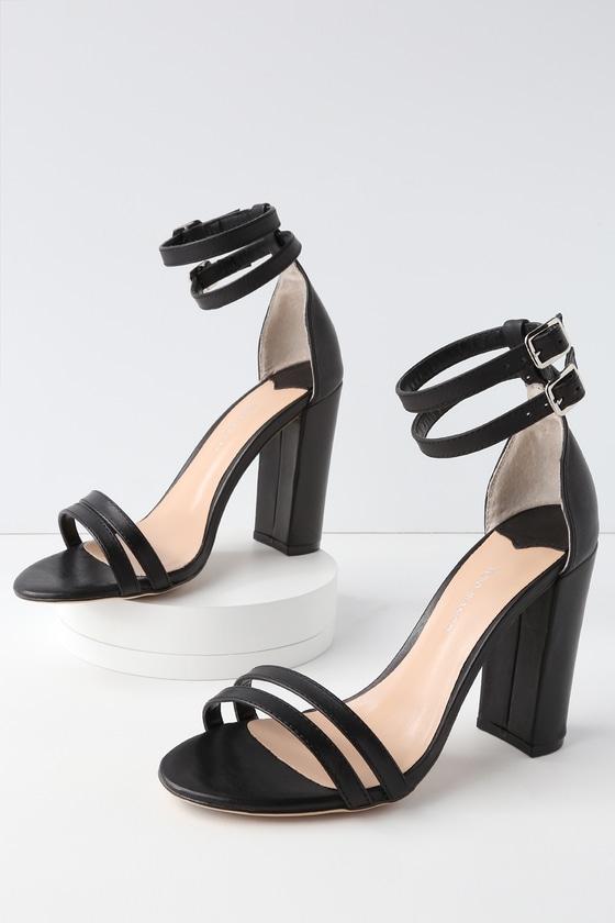 Lulus Kelly Tan Monaco Leather Ankle Strap Heels - Lulus mbd8Z