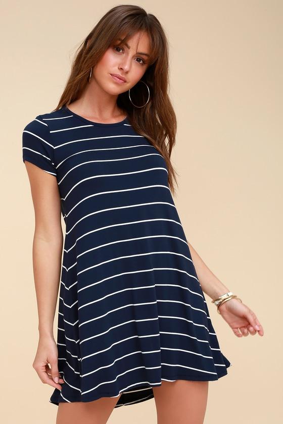 fbc9a8038b6 Navy Blue Striped T Shirt Dress Photo Wallpaper Hd A. Z Supply The Pencil  Navy And White Dress Swing