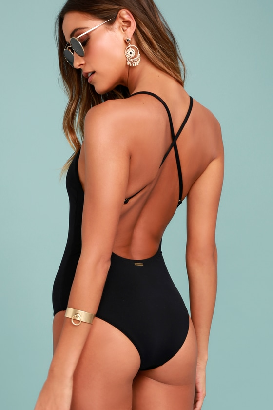 cea5c31749f33 Billabong Hippie Hooray - Black One Piece Crochet Swimsuit