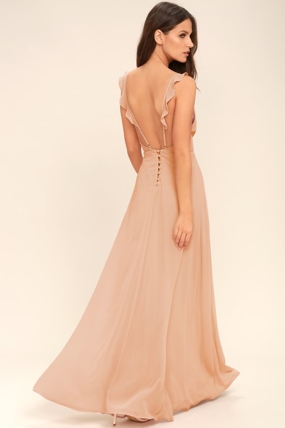 21495bdf297 Lovely Blush Maxi Dress - Sleeveless Dress - Bridesmaid Dress