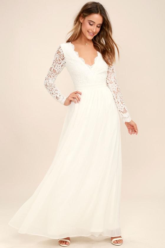 Long White Sundresses for Women