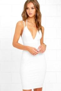 top ranking white midi dress