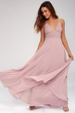 efae4cbaa Pretty Mauve Gown - Tulle Gown - Bridal Gown - Maxi Dress -  82.00