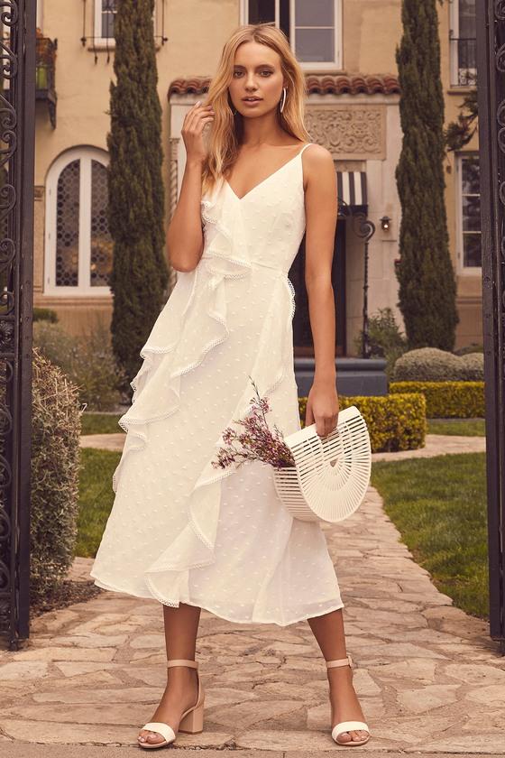 bfe7b1c048 Keepsake Hideaway - White Dress - Sleeveless Midi Dress