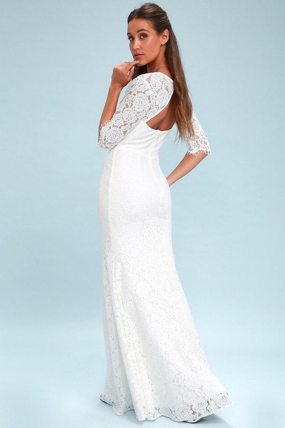 594b2c55a8a3 Gorgeous Lace Dress - Lace Maxi Dress - Bridal Dress