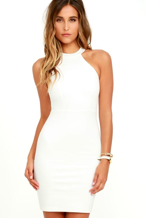 Sexy White Dress - Bodycon Dress - Lace Dress - Little White Dress -  54.00 47e3b4f45