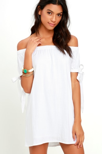 be344a7fcf0b Find a Cute Off-Shoulder Casual Dress at a Great Price