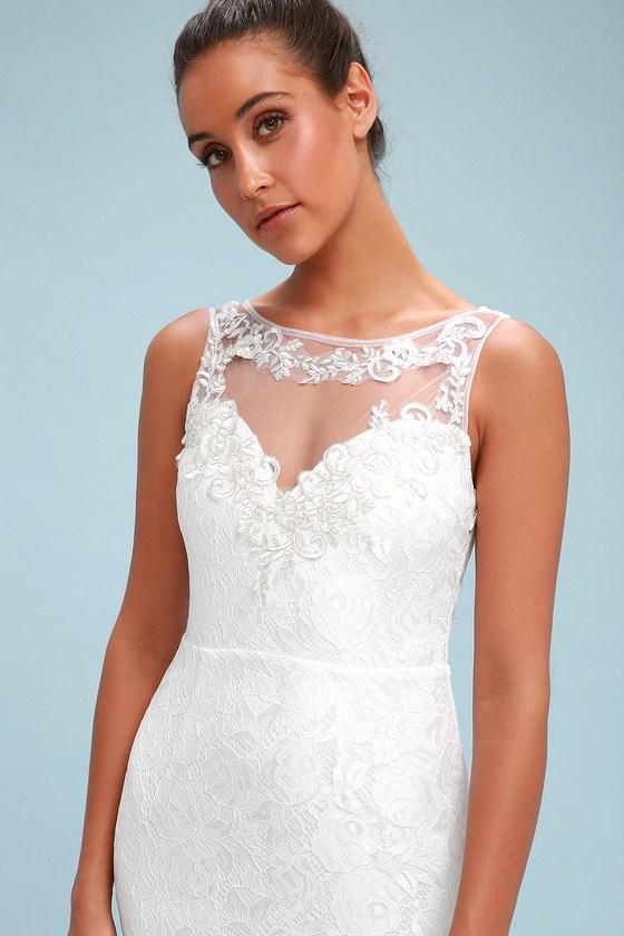 b597a9465e47 Stunning Lace Maxi Dress - Bridal Dress - White Maxi Dress
