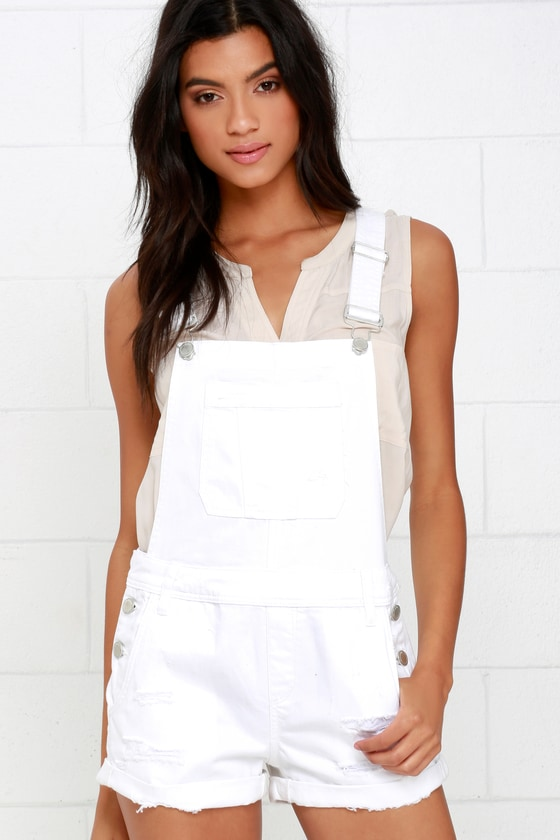 19f6a054f207 Blank NYC Short Overalls - White Overalls -  79.00