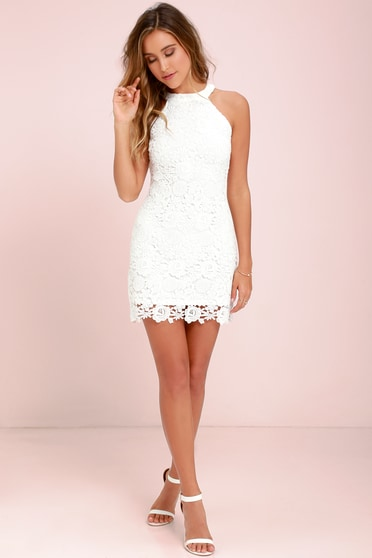 f61d196dcd9 Lace Dress - Ivory Dress - Sleeveless Dress - White Dress