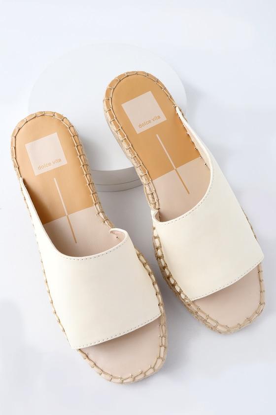 Lulus Banji Off- Espadrille Slide Sandal Heels - Lulus Gtg9AFF