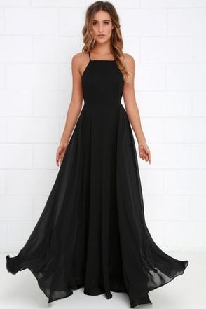 Beautiful Black Dress Maxi Dress Backless Maxi Dress