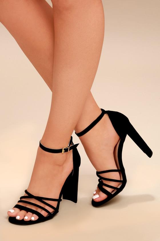 Lulus Shiloh Leather Ankle Strap Heels - Lulus