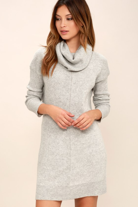 Tea Reader Light Grey Sweater Dress 9