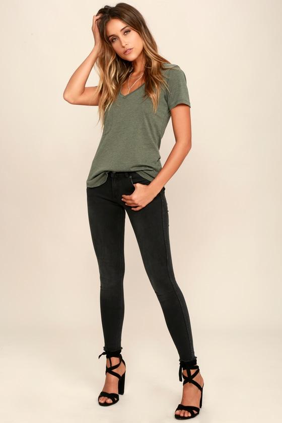 559f5063f45 Olive Green Tee - Short Sleeve Shirt - T-Shirt - $29.00