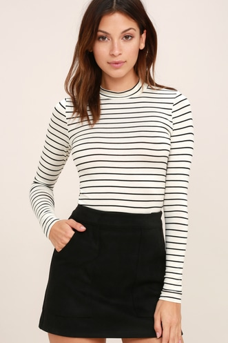 b600bf782a944 Anything is Posh-ible White Striped Top