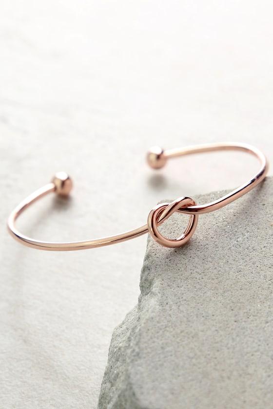 Cute Rose Gold Bracelet Rose Gold Cuff Knot Cuff Bracelet