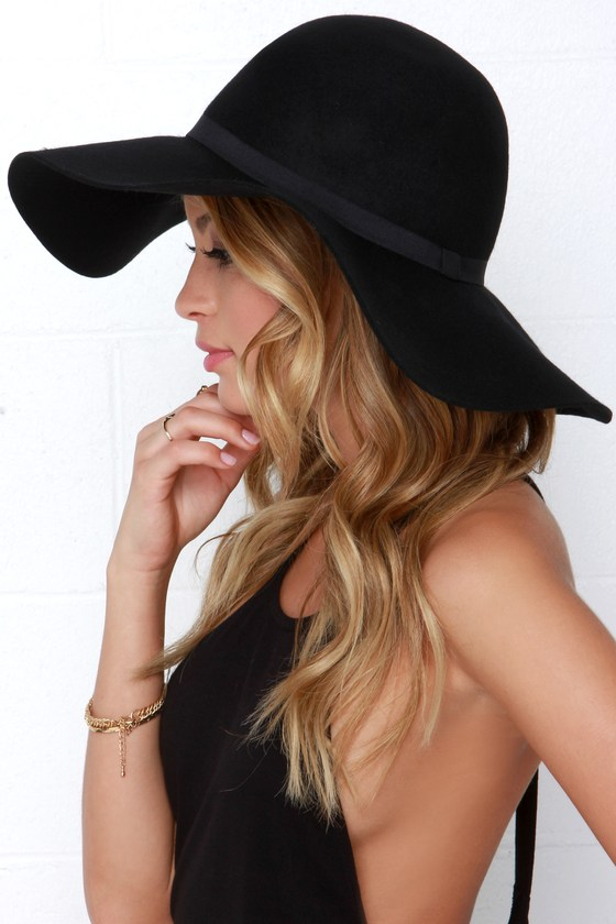 83b7b9ae Chic Black Hat - Floppy Hat - Wide Brimmed Hat - $32.00