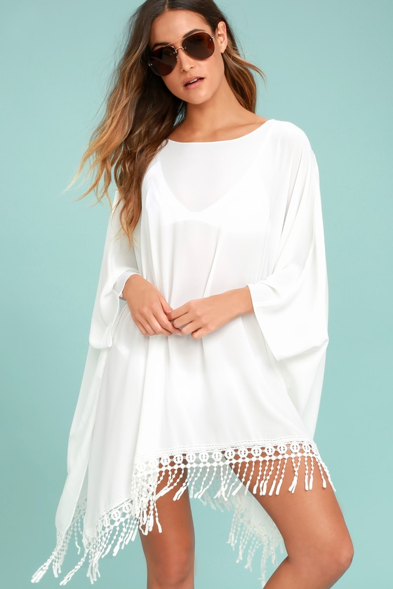 3f3f8b25c1015 Chic Ivory Cover-Up - Crochet Cover-Up - Ivory Kaftan