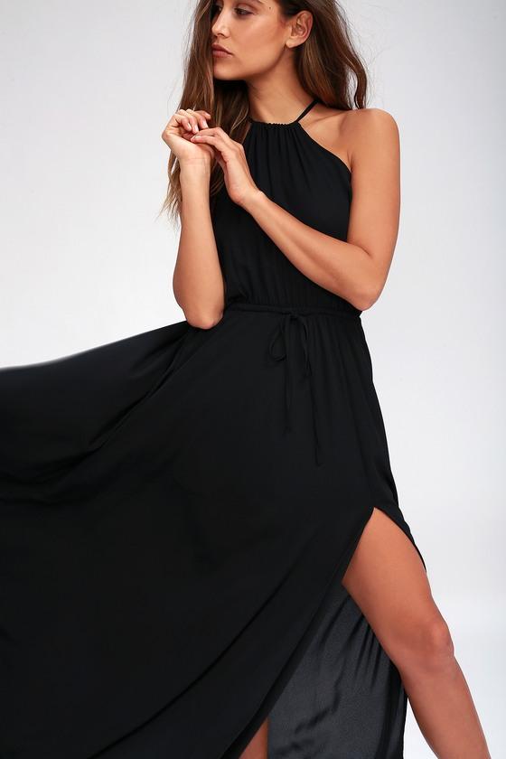 47716cbf1b1 Lovely Black Dress - Maxi Dress - Sleeveless Dress