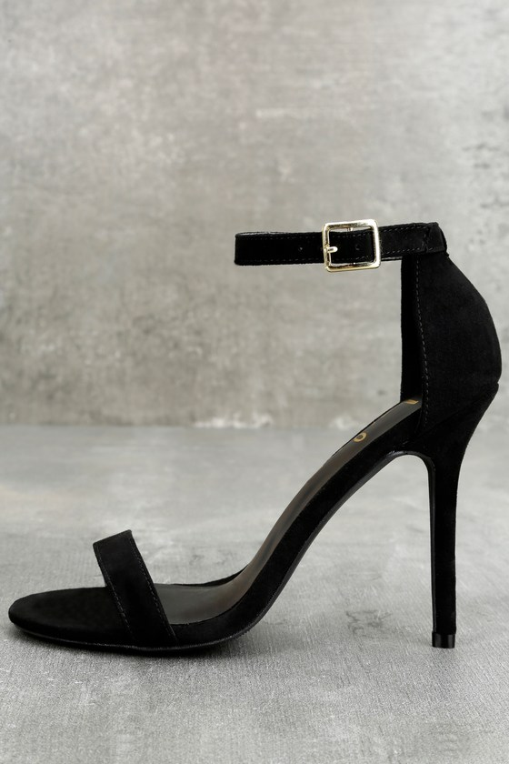 60ffd5c2262 Single Strap Heel - Ankle Strap Heels - Black Heels -  29.00