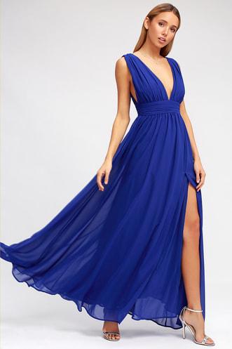 Heavenly Hues Royal Blue Maxi Dress bc2342239