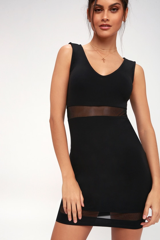 Best Of The Mesh Black Mesh Bodycon Dress by Lulus