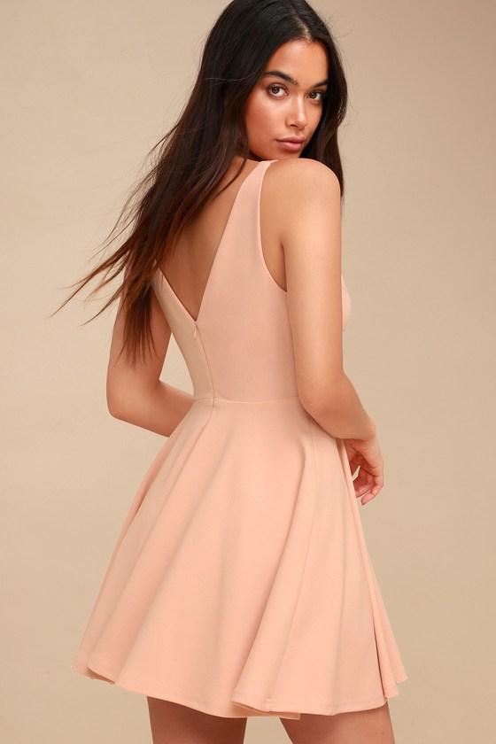 d9219217310 Cute Blush Dress - Skater Dress - Sleeveless Dress