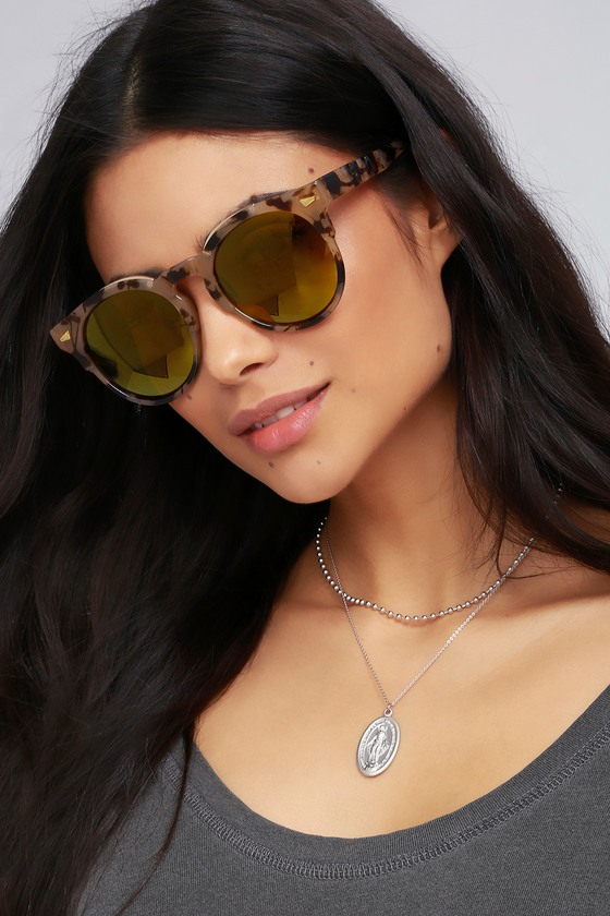 Bosworth Tortoise and Gold Mirrored Sunglasses