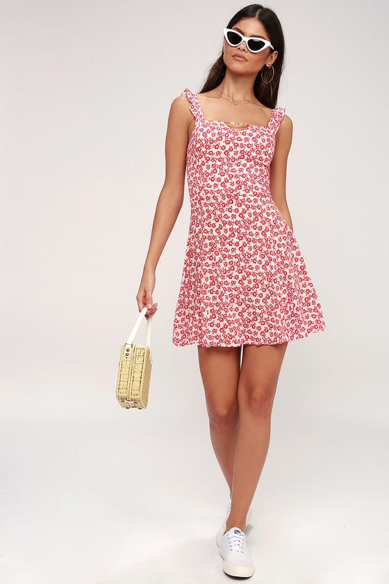 17b1efec3ef1 Lucy Love Fallin  For You - Floral Print Skater Dress
