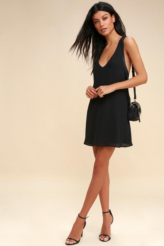 Sexy Black Dress Sleeveless Dress Sleevless Shift Dress