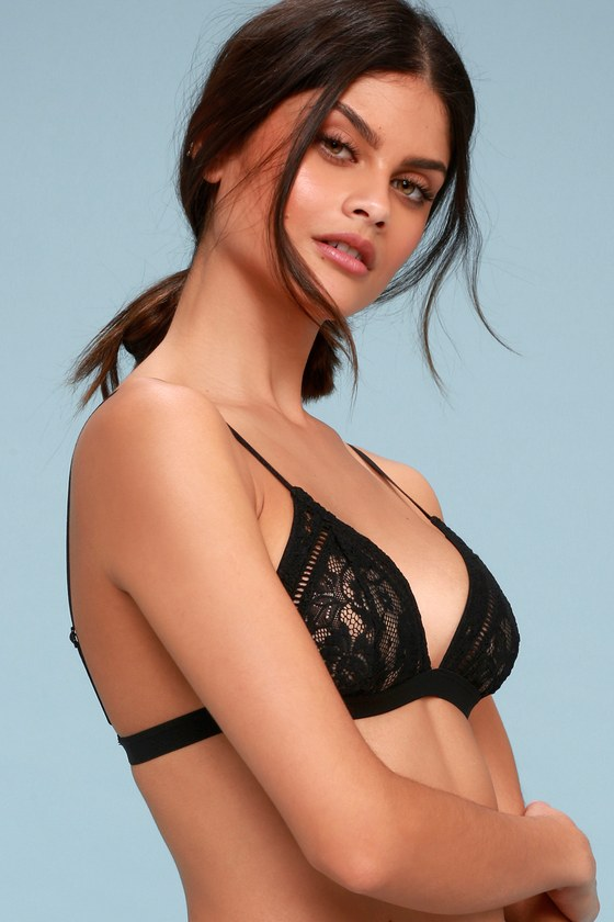 862e570cbc Rhythm Belle Bralette - Black Lace Bralette - Black Lingerie