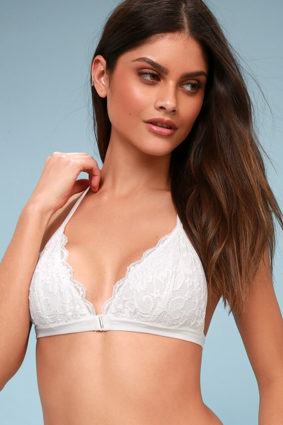 Love Charm White Lace Strappy Bralette by Lulu's