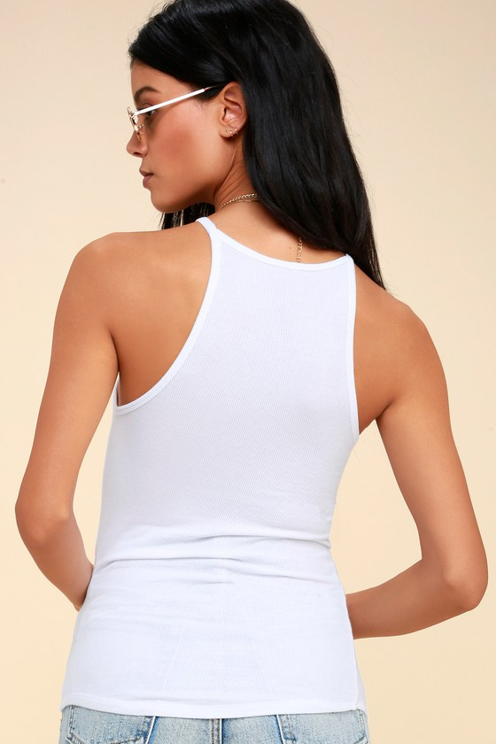 1feb02843896d Z Supply The Micro - White Tank Top - Ribbed Tank Top