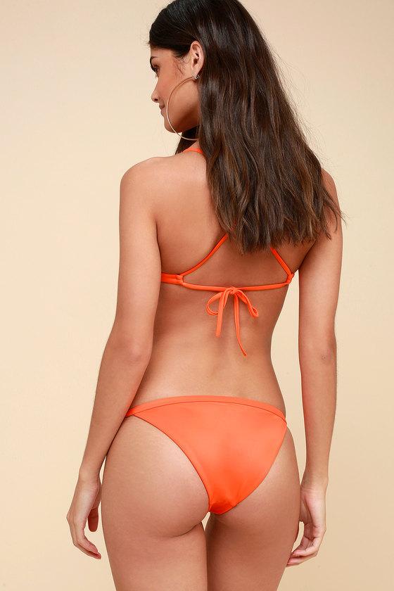 d2576abfdb RVCA Solid Medium Bikini Bottoms - Orange Bikini Bottoms
