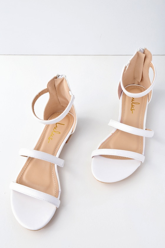 e0eabcfee7671 Cute White Sandals - Flat Sandals - Vegan Leather Sandals