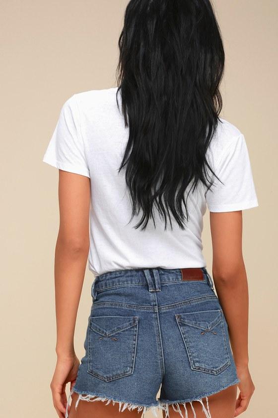 baf1669c9e Unpublished Stella Shorts - Denim Shorts - Cutoff Shorts