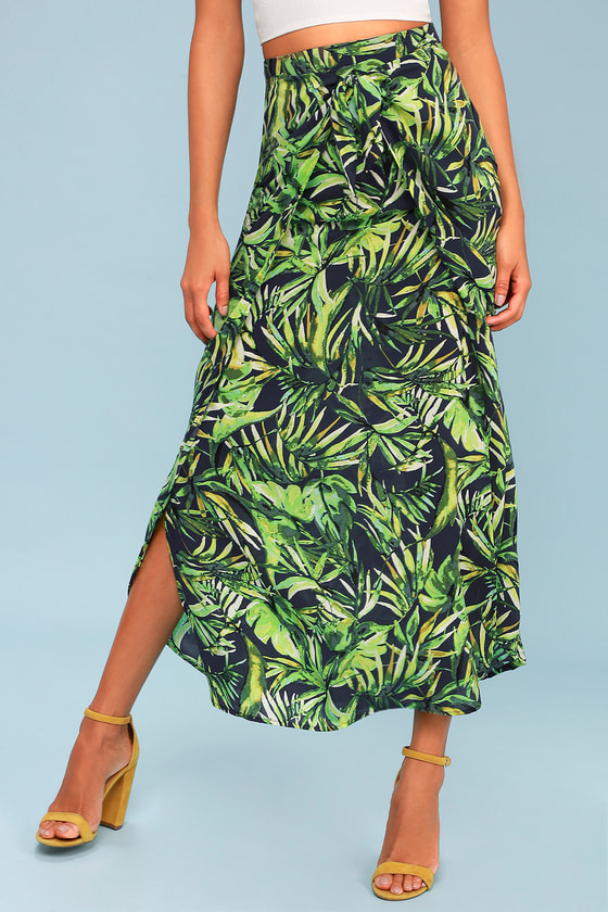 0c87809ed62795 Lucy Love Hyde Beach - Tropical Print Skirt - Maxi Skirt