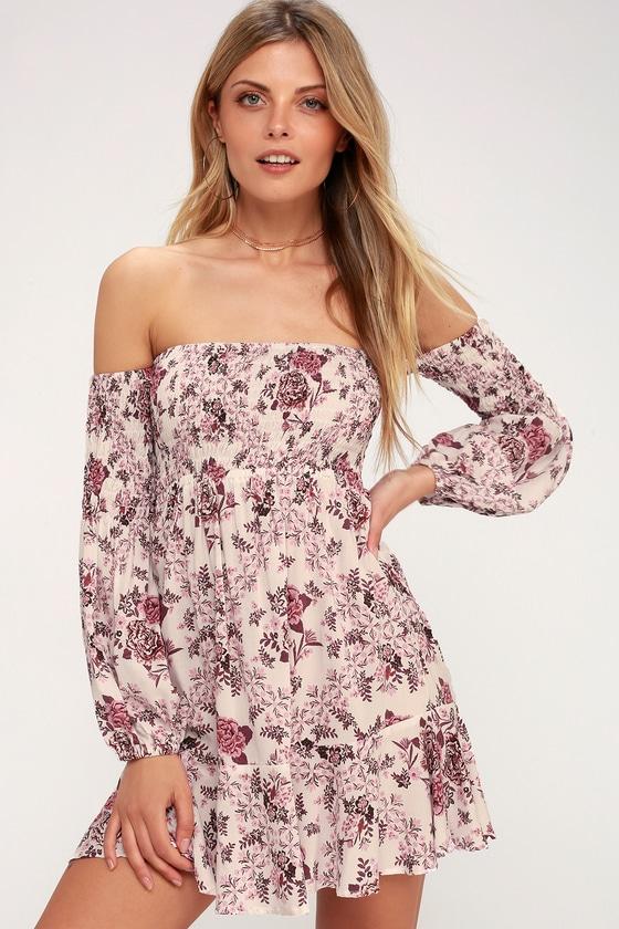ad92ff3cad5 Kivari Flores - White Floral Print Mini Dress - OTS Dress